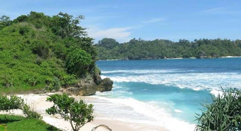 Pemandangan Pantai Sendang Biru
